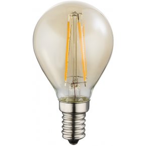 AMBER E14 Golf Ball LED Bulb 10589A