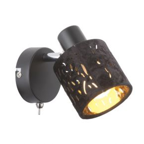 TROY Black Wall Light 54121-1