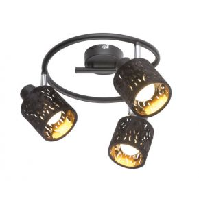 TROY Black Ceiling/Wall Light 54121-3