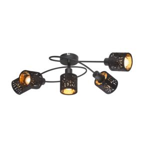 TROY Black Ceiling Light 54121-5