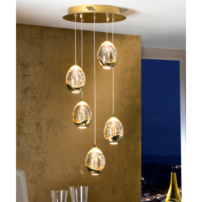 Bimby 5 Light Pendant Gold Dimmable