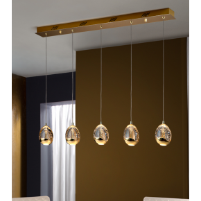 Bimby 5 Light Bar Pendant Dimmable Gold