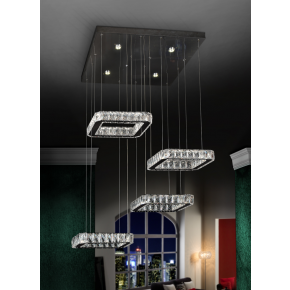 Kita 4 Light Square Pendant Dimmable