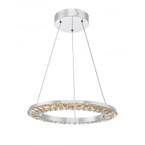 Altamura Pendant Polished Chrome and Crystal LED