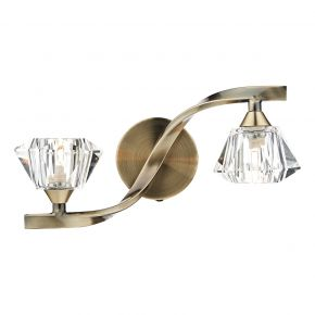 Ancona Double Wall Bracket Antique Brass