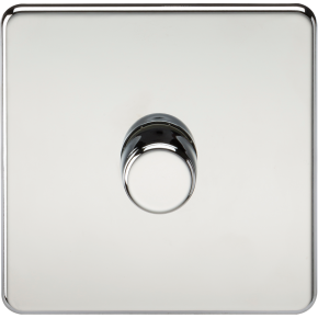 Screwless 1 Gang Dimmer Switch Polished Chrome