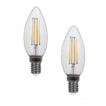 CLEAR E14 Candle 2-Pack of LED Bulbs 10583-2K
