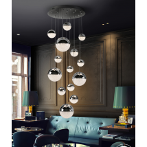 Bellini 14 Light Pendant Chrome Dimmable
