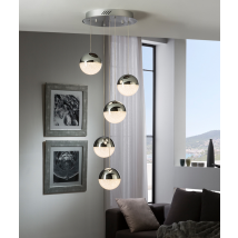 Bellini 5 Light Pendant Dimmable Chrome