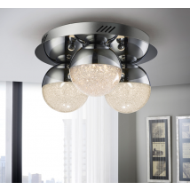 Bellini 3 Light Flush Chrome Dimmable