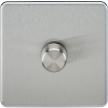 Screwless 1 Gang Dimmer Switch Brushed Chrome